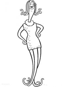 Monsters inc coloring pages celia mae