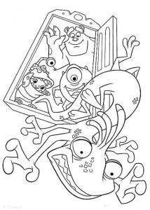 Monsters inc coloring pages randall boggs