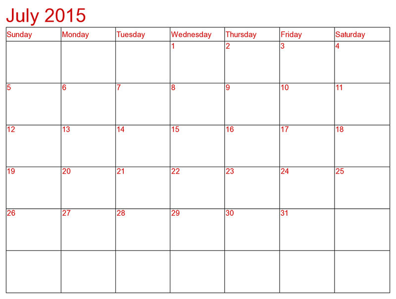 Monthly Calendar Printable 2015 July1 001