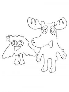 Moose coloring pages for kids