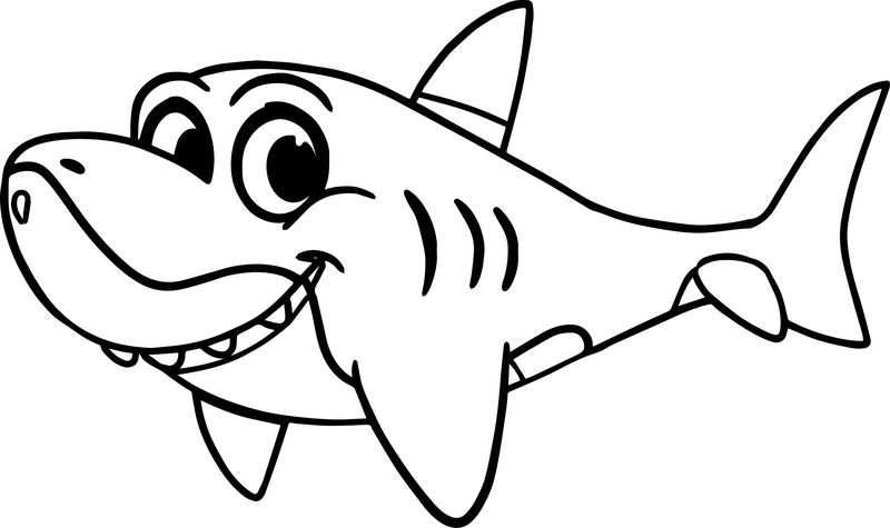 Morphle Cartoon My Cute Shark Coloring Page