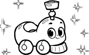 Morphle cartoon my cute train coloring page