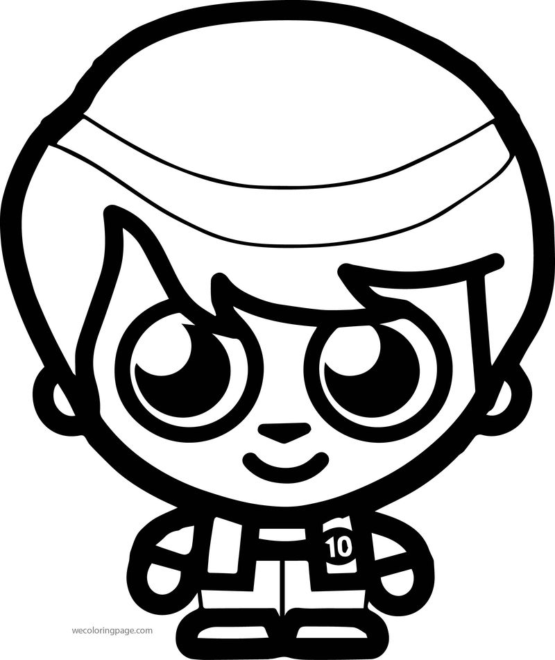 Moshi Monsters Ben 10 Moshi Style Coloring Page