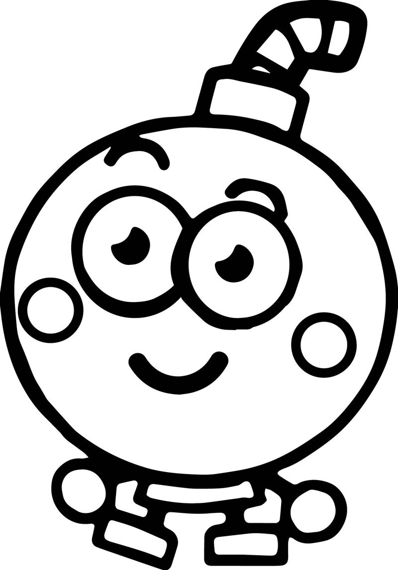Moshi Monsters Bomb Coloring Page