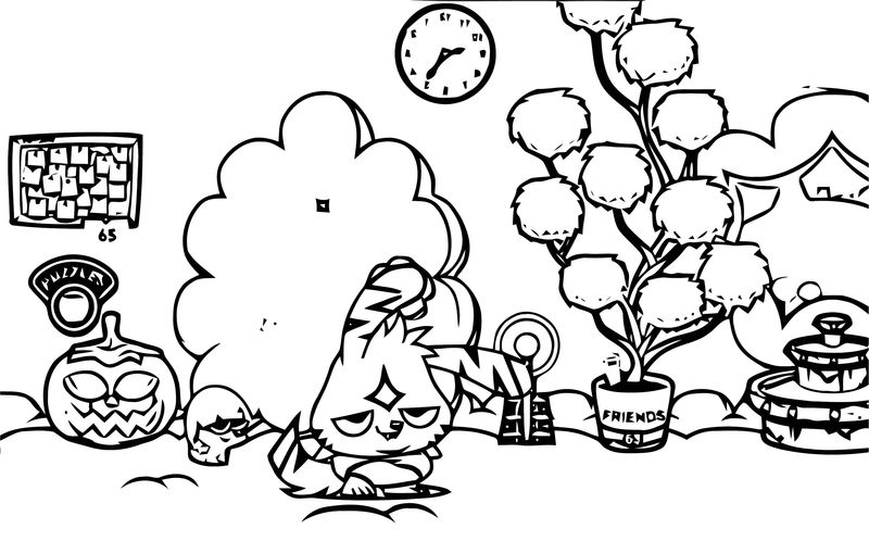 Moshi Monsters Coloring Page 39