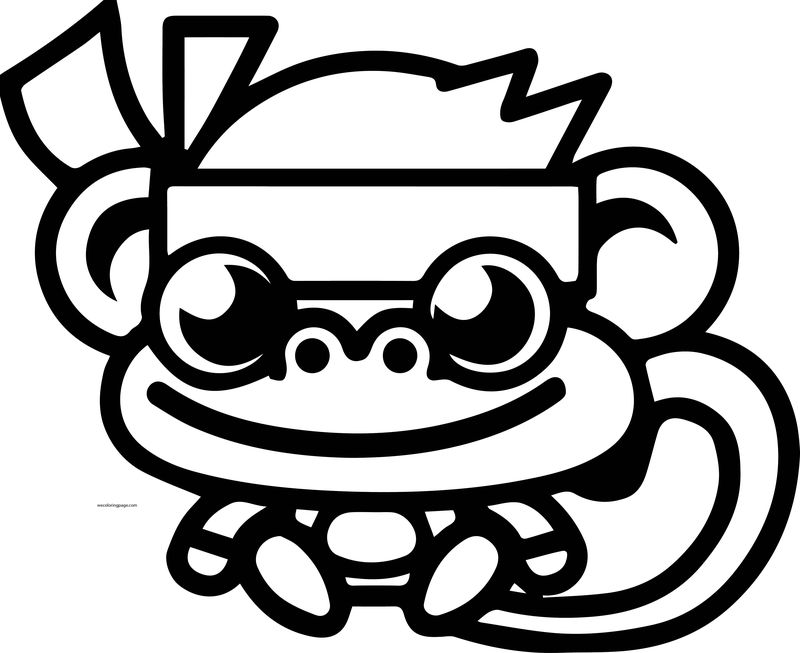 Moshi Monsters Karate Kid Monkey Coloring Page