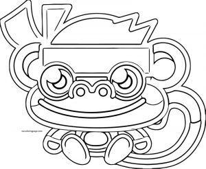 Moshi monsters monkey outline coloring page