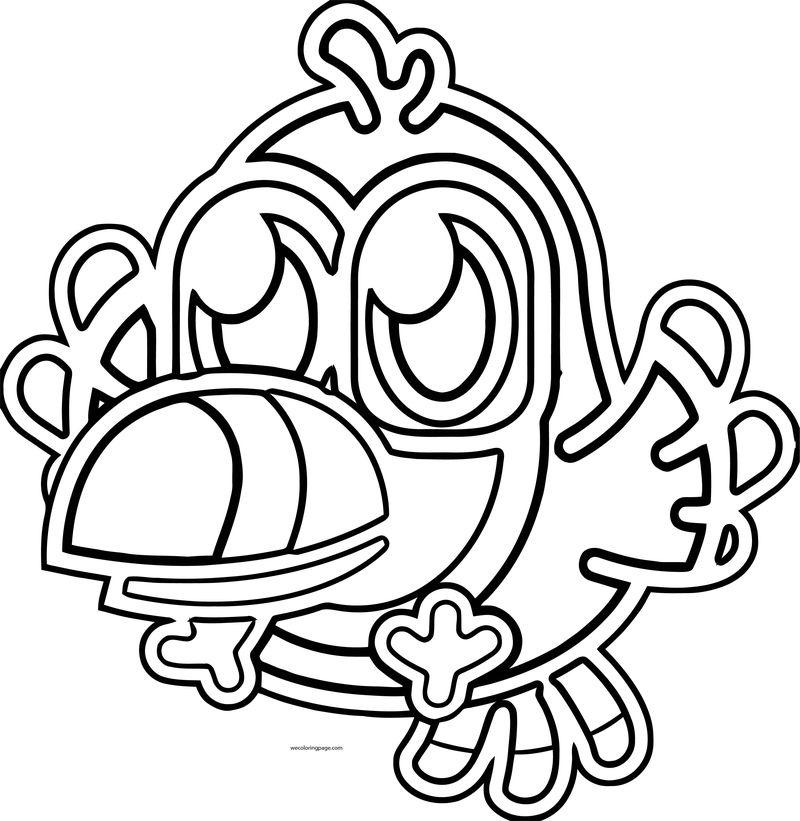 Moshi Monsters Outline Bird Coloring Page