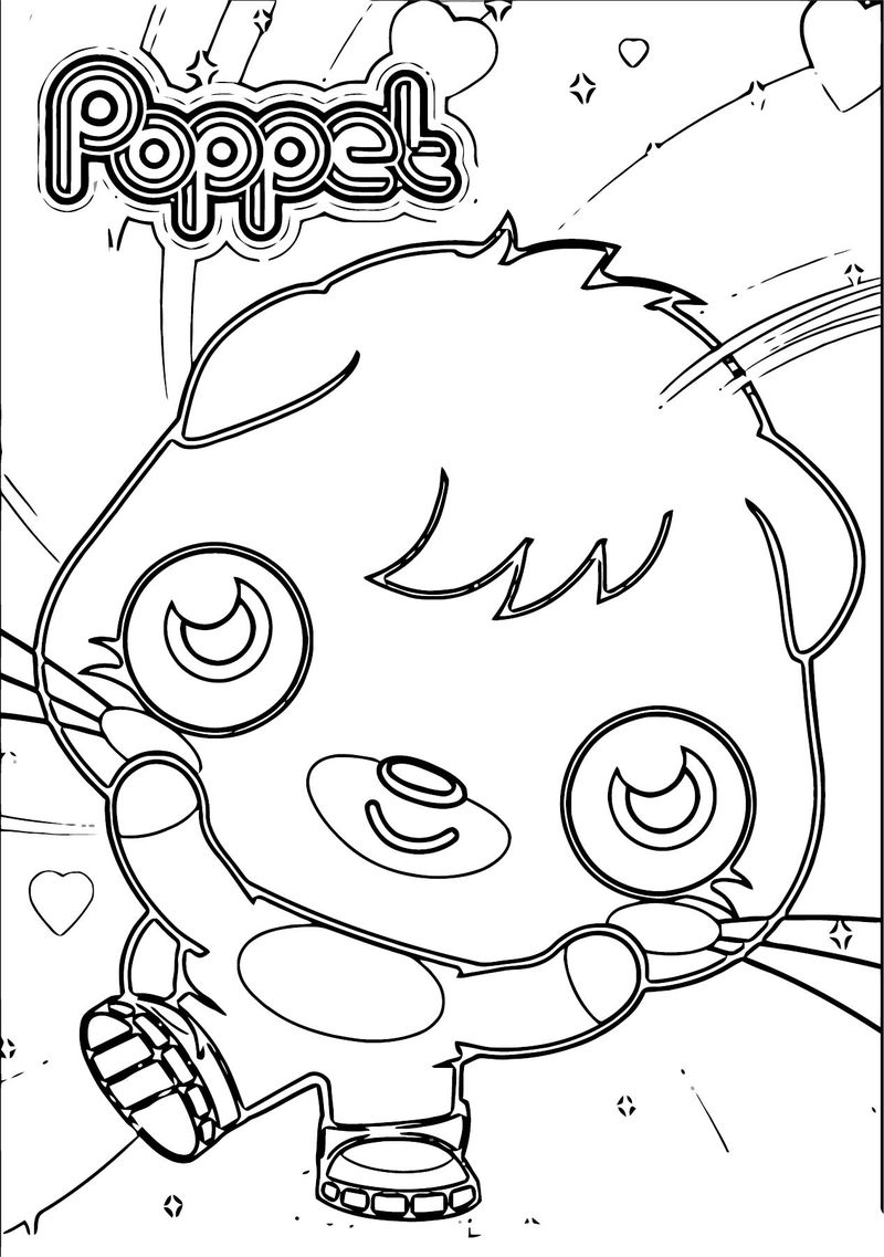 Moshi Monsters Poppet I1 Coloring Page