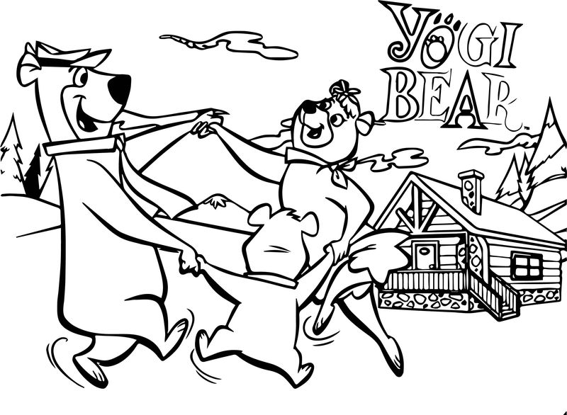 Most Bear Family Coloring Page