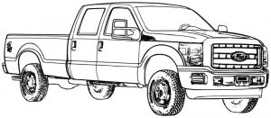 Most capable ford truck coloring book