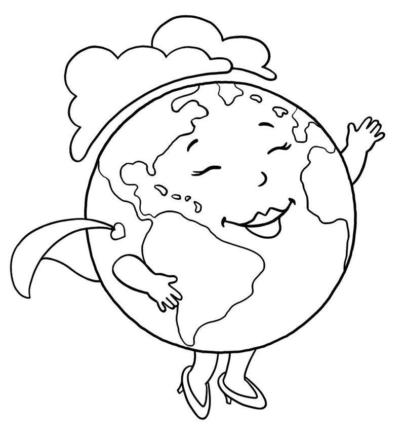 Mother Earth Day Coloring Pages