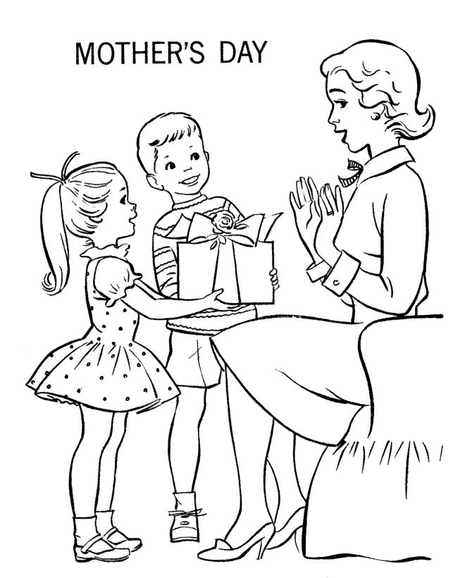 Mother S Day Coloring Pages