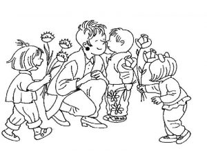 Mothers day coloring pages kids