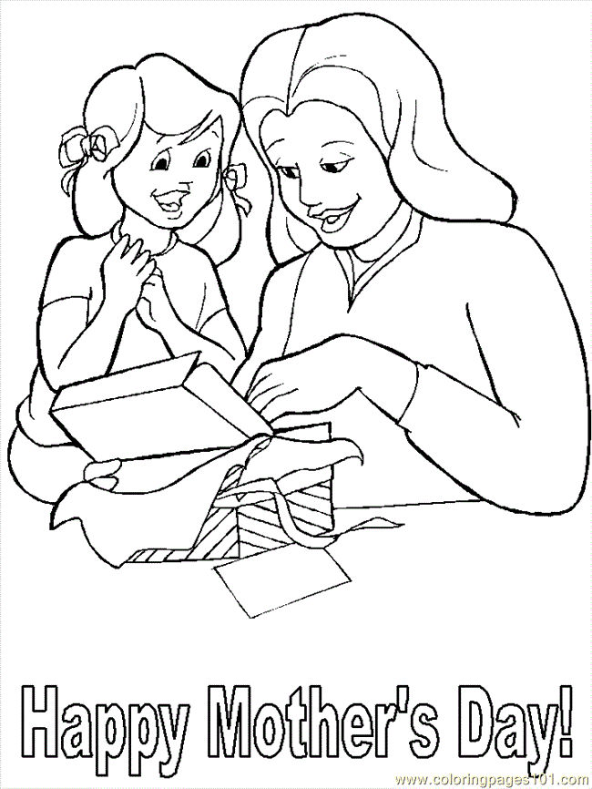 Mothers Day Printable Coloring Pages