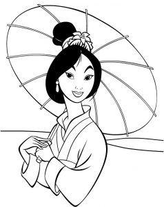 Mulan disney princess coloring pages
