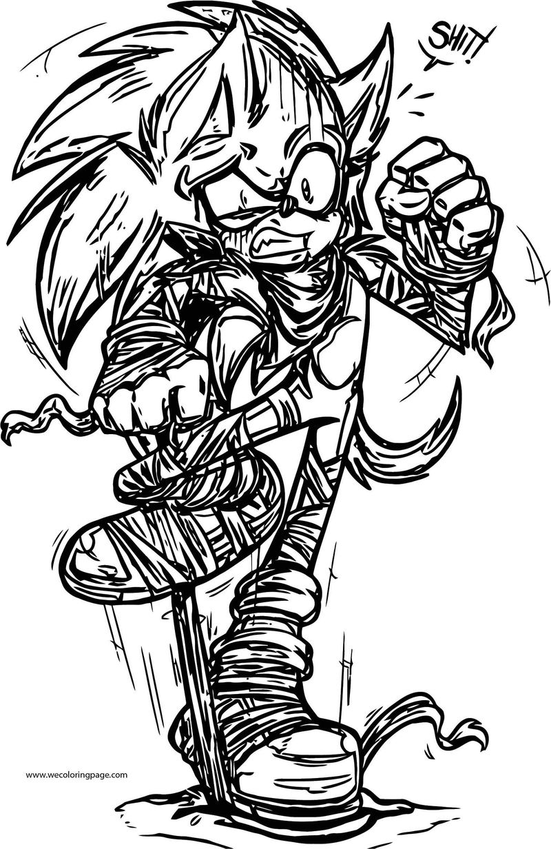 Mummy Sonic The Hedgehog Coloring Page Sketch