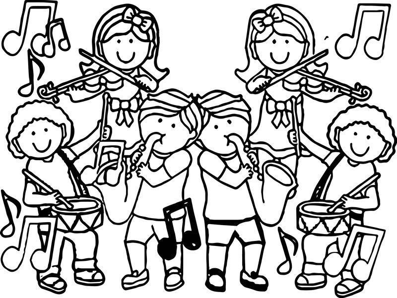 Music For Kids Original Coloring Page
