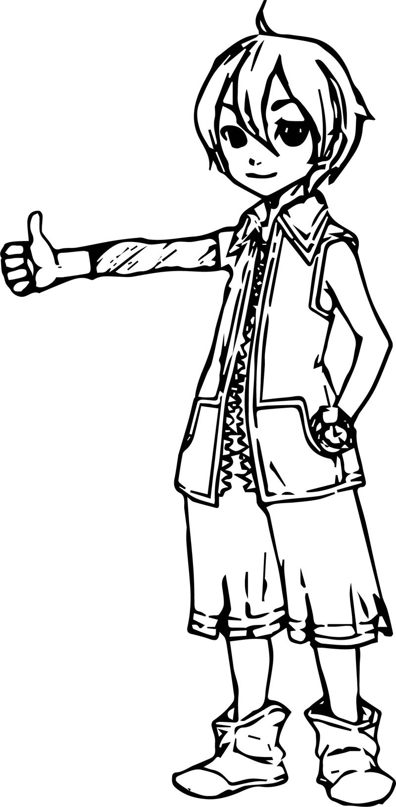 My Character Design Coloring Page