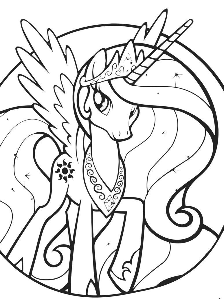 My Little Pony Coloring Page Princess Celestia - Coloring ...