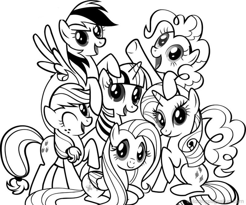 My Little Pony Coloring Pages 4 001