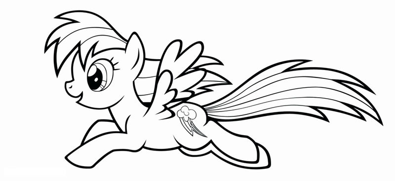 My Little Pony Coloring Pages Pdf Fly