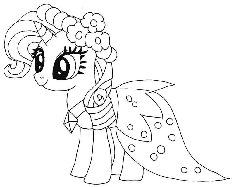 My Little Pony Coloring Pages Pdf Girl