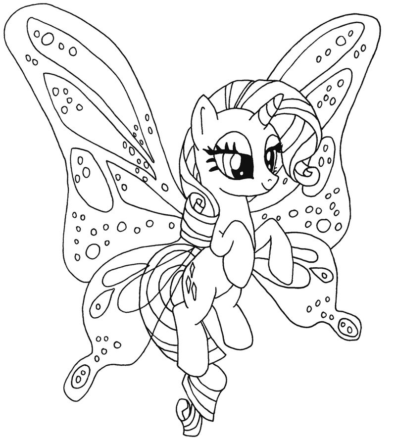 My Little Pony Coloring Pages Pdf Wing