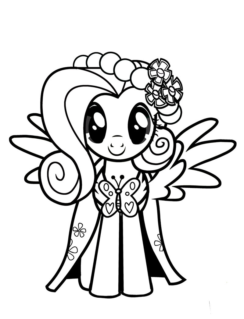 My Little Pony Fluttershy Coloring Page 001