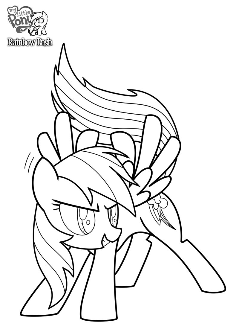 My Little Pony Rainbow Dash Free Coloring Pages