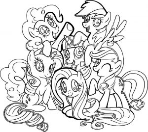 My little ponys coloring page