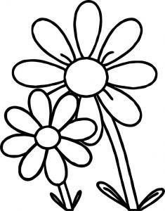 Mycutegraphics free flower coloring page