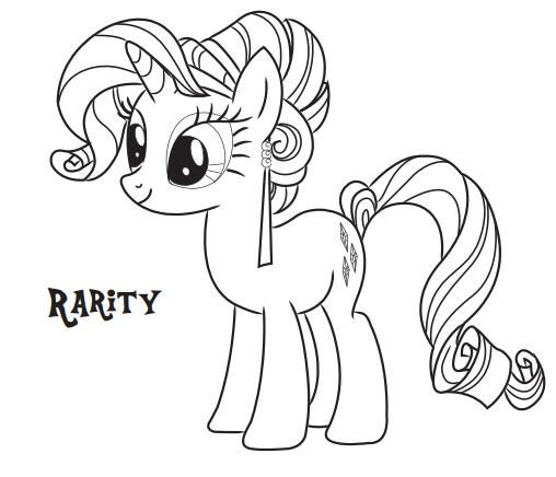 Mylittlepony Coloringpages Hasbro Rarity