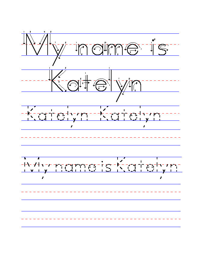 Name Trace Worksheets For Kids