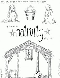 Nativity coloring pages cutout activity 1