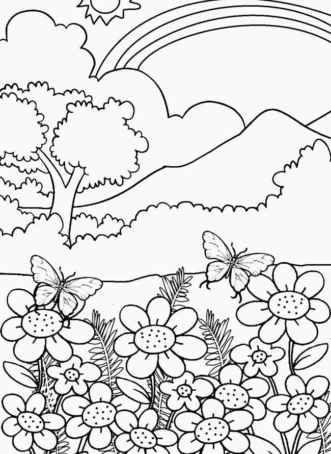 Nature Coloring Pages For Adults 3