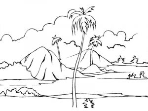 Nature coloring pages for kids 001
