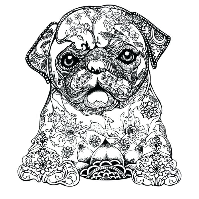 Nature Dog Coloring Pages For Adults