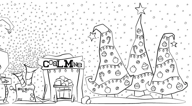 Naughty List Christmas Coloring Page