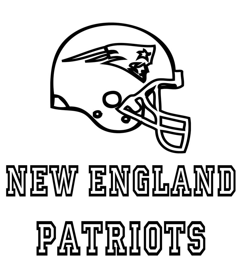 New England Patriots Coloring Pages Activity