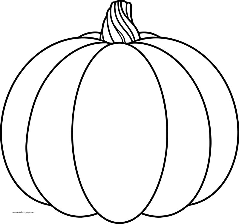 New Fall Pumpkin Coloring Page