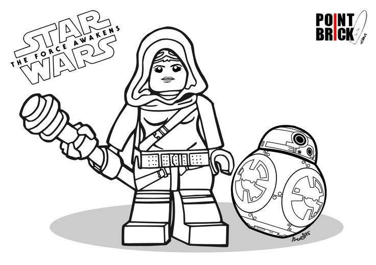 New Lego Star Wars Coloring Pages