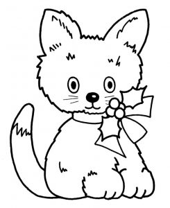 New pet for christmas coloring page for preschoolers
