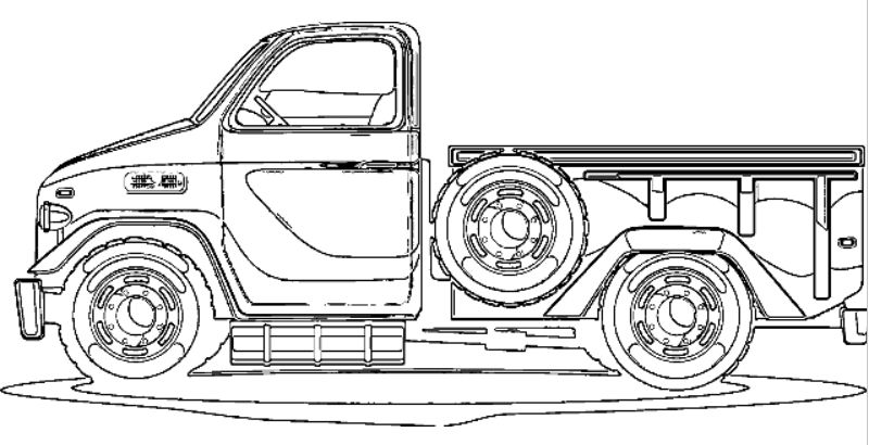 New Pickup Truck Coloring Pictures