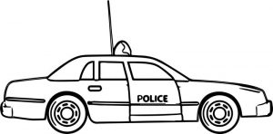 New police car coloring pages