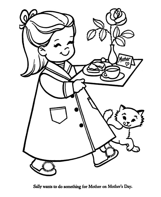 Nice For Mothers Day Coloring Pages