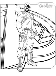 Nick fury avengers coloring pages