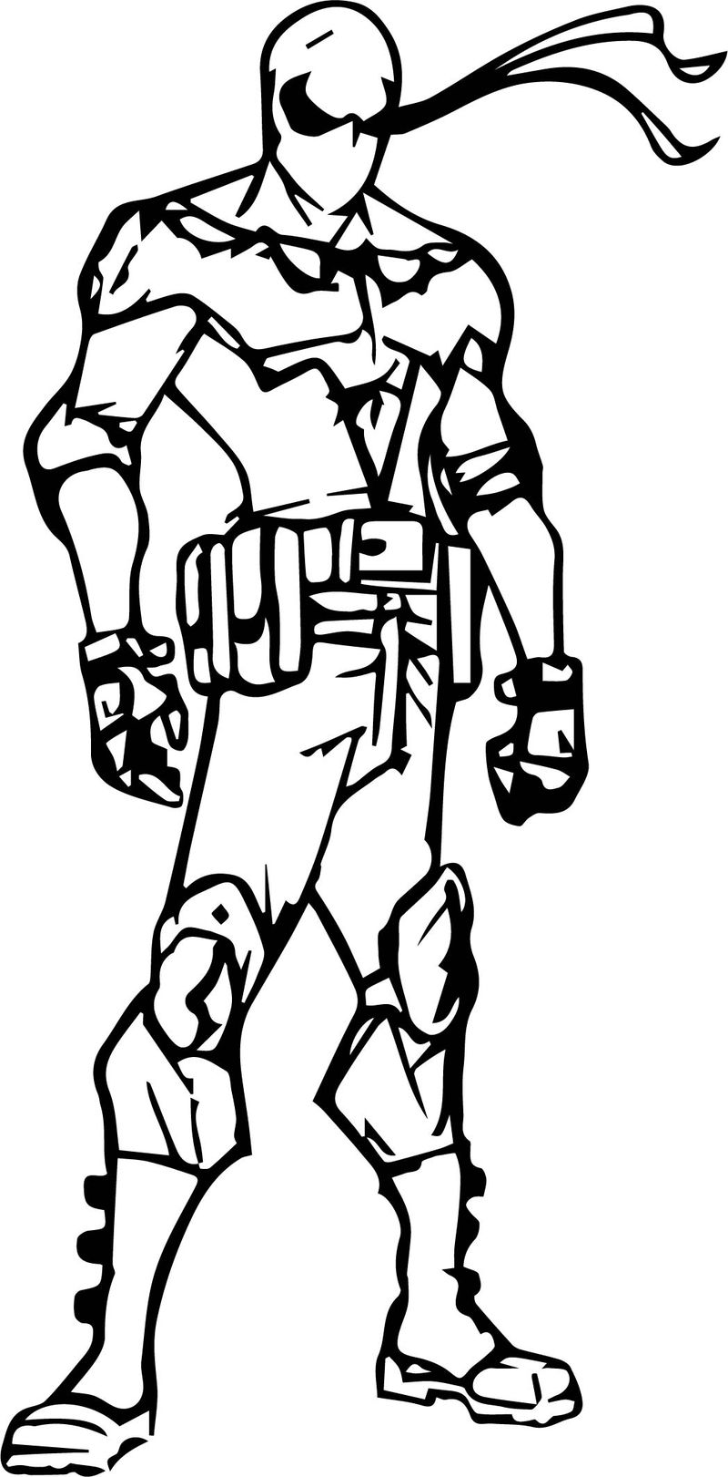 Night Runner Character Design Coloring Page