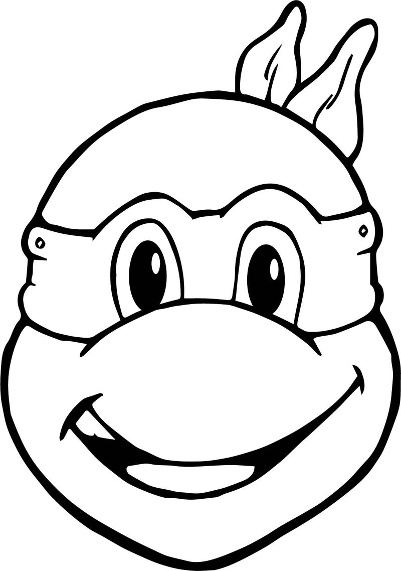 Ninja Turtles Head To Head Coloring Pages