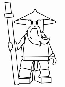 Ninjago lego coloring pages 002